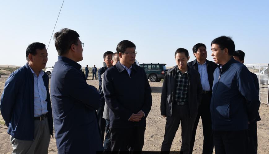 甘肃省林业厅党组书记、厅长宋尚有到民勤站检查指导工作