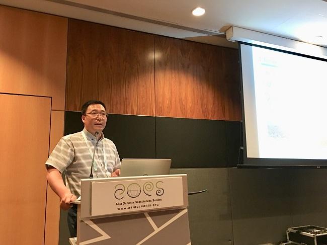 临泽站科研人员参加第十六届亚洲大洋洲地球科学学会