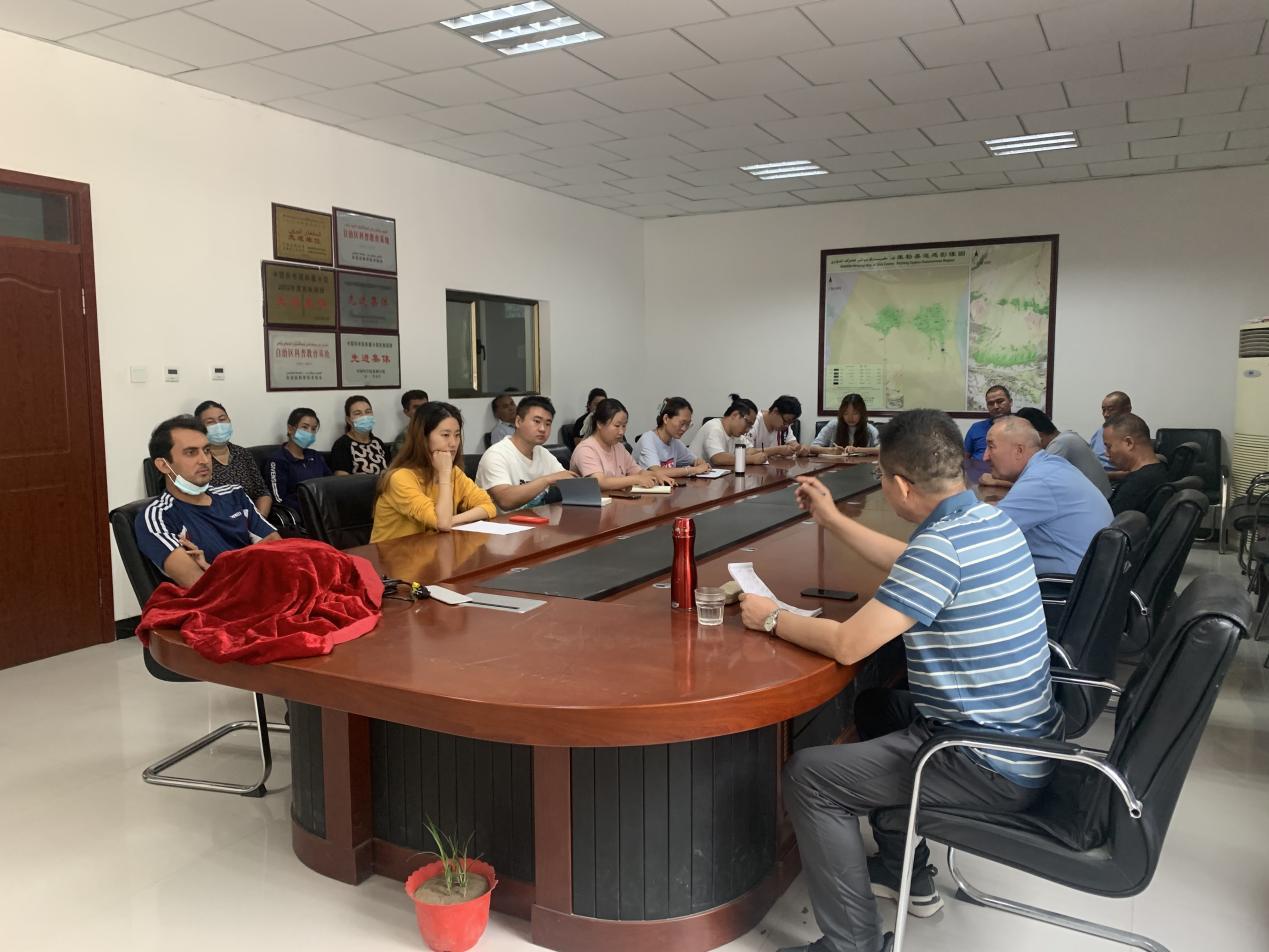 策勒国家站召开站区安全工作会议
